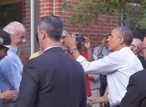 News video: President Obama Hangs Out With The People Of Denver